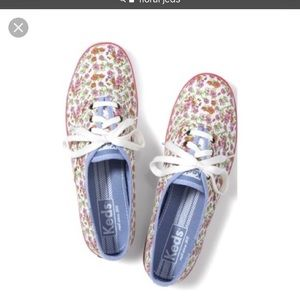 USED Keds Floral Sneakers Sz 10